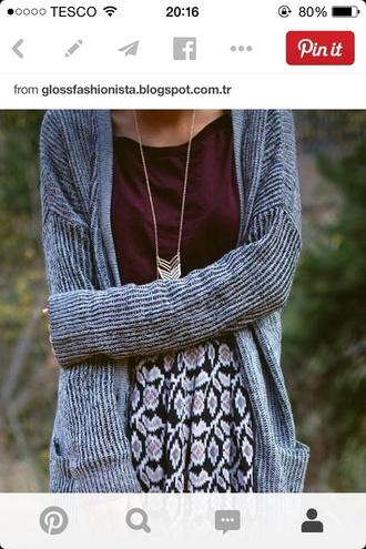 cardigan wool stripes sweet loose jewels shirt