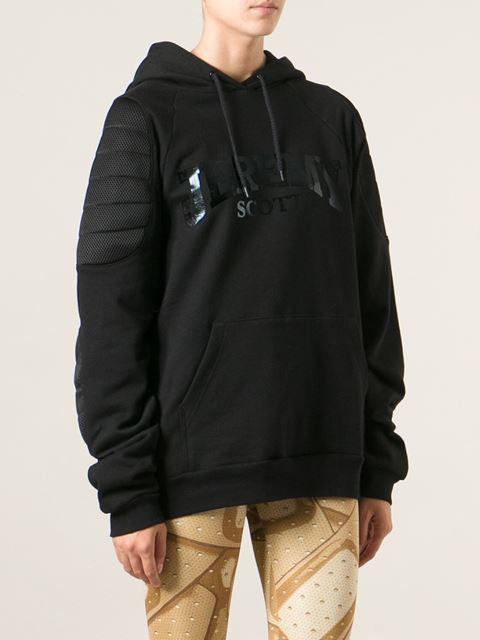 Jeremy scott logo printed padded details hoodie