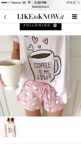 pajamas pjamas pink coffee