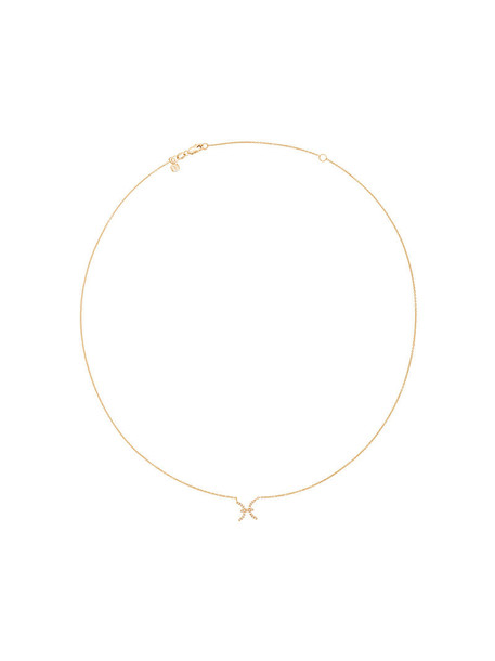 sydney evan women necklace gold grey metallic jewels