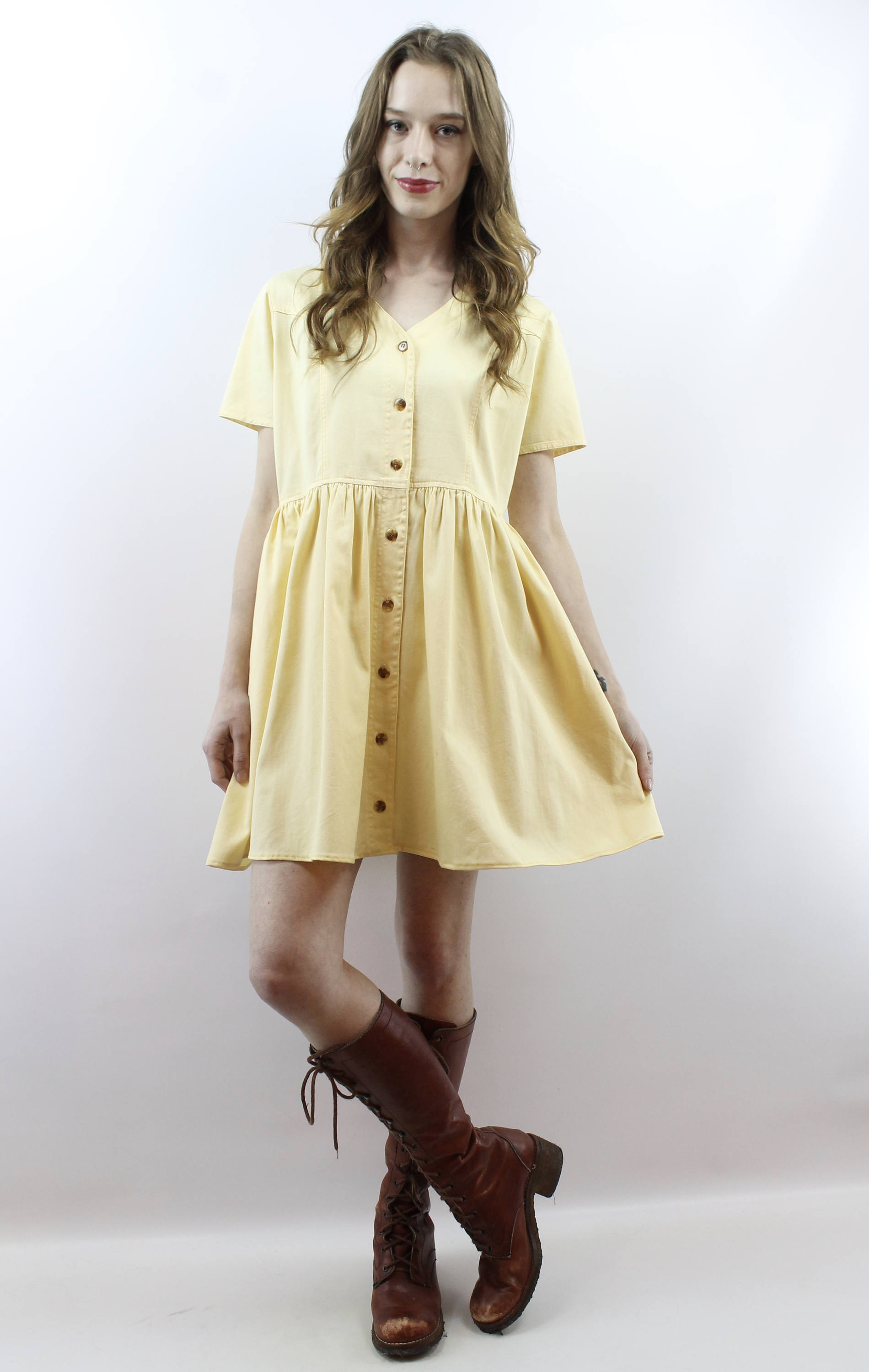 Robe jaune make up