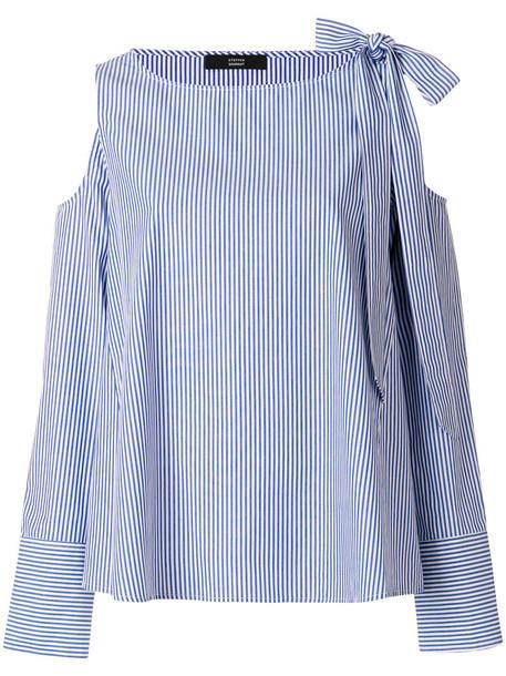 Steffen Schraut blouse women cold cotton blue top