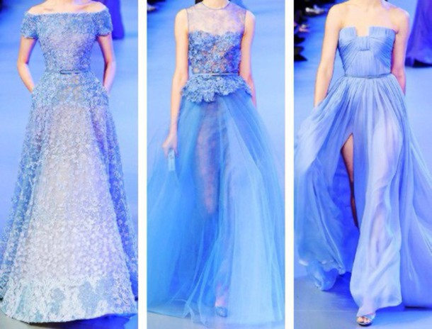 dress elie saab elie saab elie saab prom dress light blue PLL Ice Ball