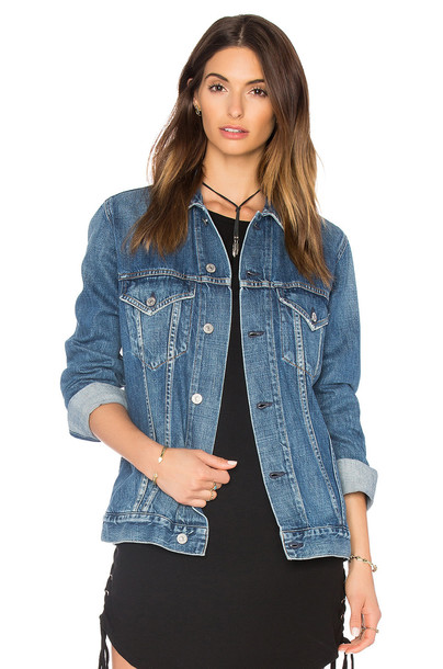 CITIZENS OF HUMANITY jacket boyfriend blue