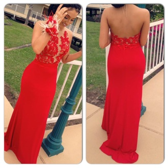 dress lace prom dress halter dress long dress