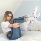 jeans,light blue jeans,joanna kuchta,cool