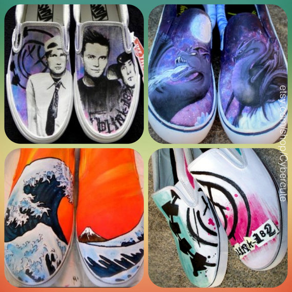 a2adbe785d50 Awesome Custom Painted Shoes by AshKetchmm par Cybercute sur ...