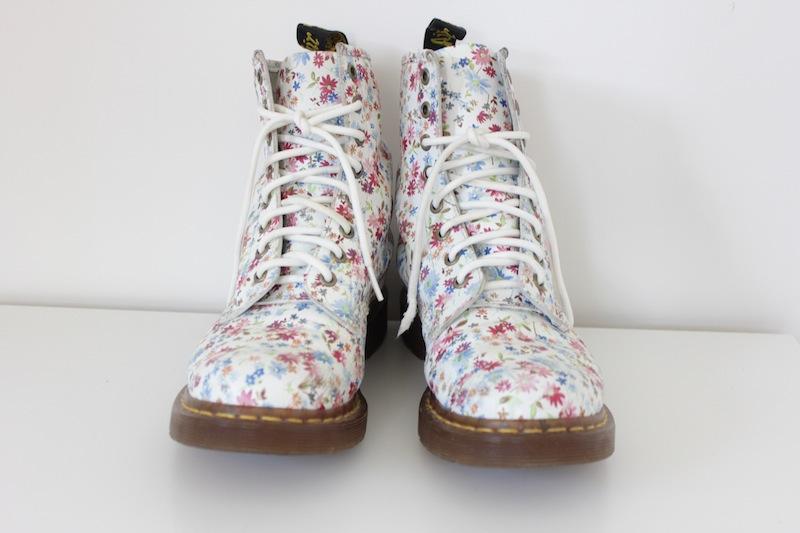 Martens // Floral Ankle Boots / 10x10