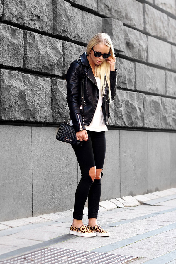 victoria tornegren blogger jeans jacket bag sunglasses