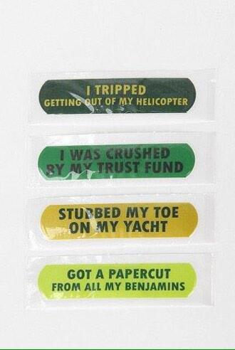 make-up plaster funny quote on it