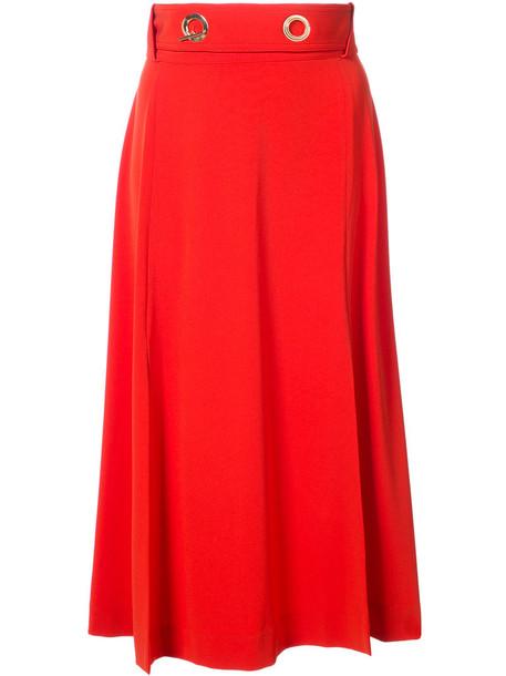 skirt midi skirt women midi red