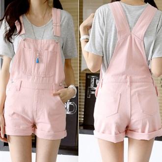 romper overalls fashion pink kawaii teenagers girly cute style boogzel