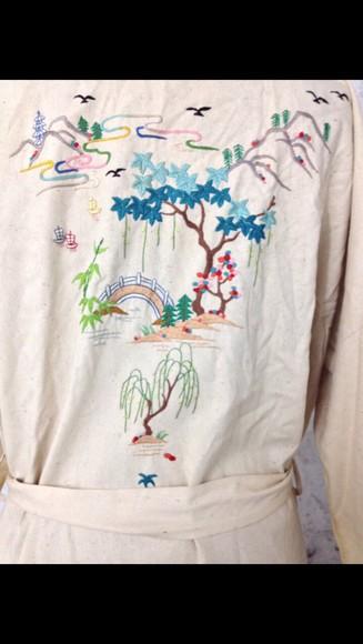retro nature antique long sleeves