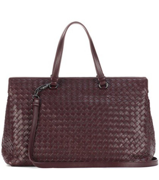 Bottega Veneta leather purple bag