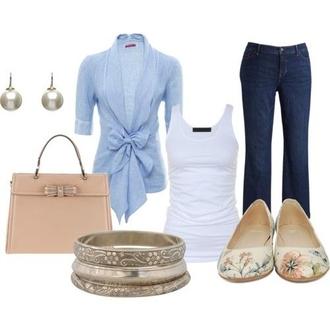 shirt blue shirt blue jeans bow ruffle denim blazer blouse