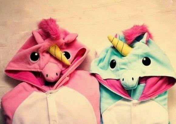 unicorn pajamas onesie eenhoorn horn