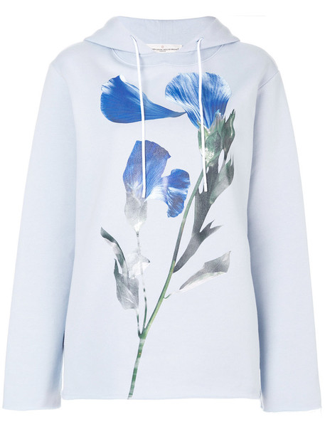 GOLDEN GOOSE DELUXE BRAND hoody women floral cotton blue sweater