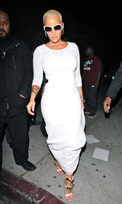 dress,lace dress,lace,skirt,top,white,white dress,amber rose,sandals,shoes