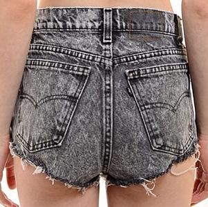 Washed Out Grey Acid Shorts - Arad Denim