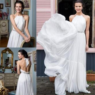 dress backless wedding dress greek style wedding dresses summer wedding dresses cheap wedding dresses beach wedding dress chiffon wedding dresses bohemian wedding dress