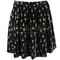 Women mid elastic waist gold cross print knife pleats short velvet mini skirt | ebay