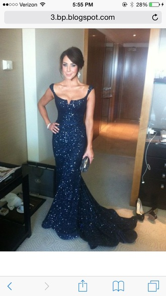 dress blue dress sparkly dress prom dress