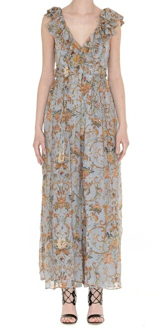 jumpsuit tapestry blue grey