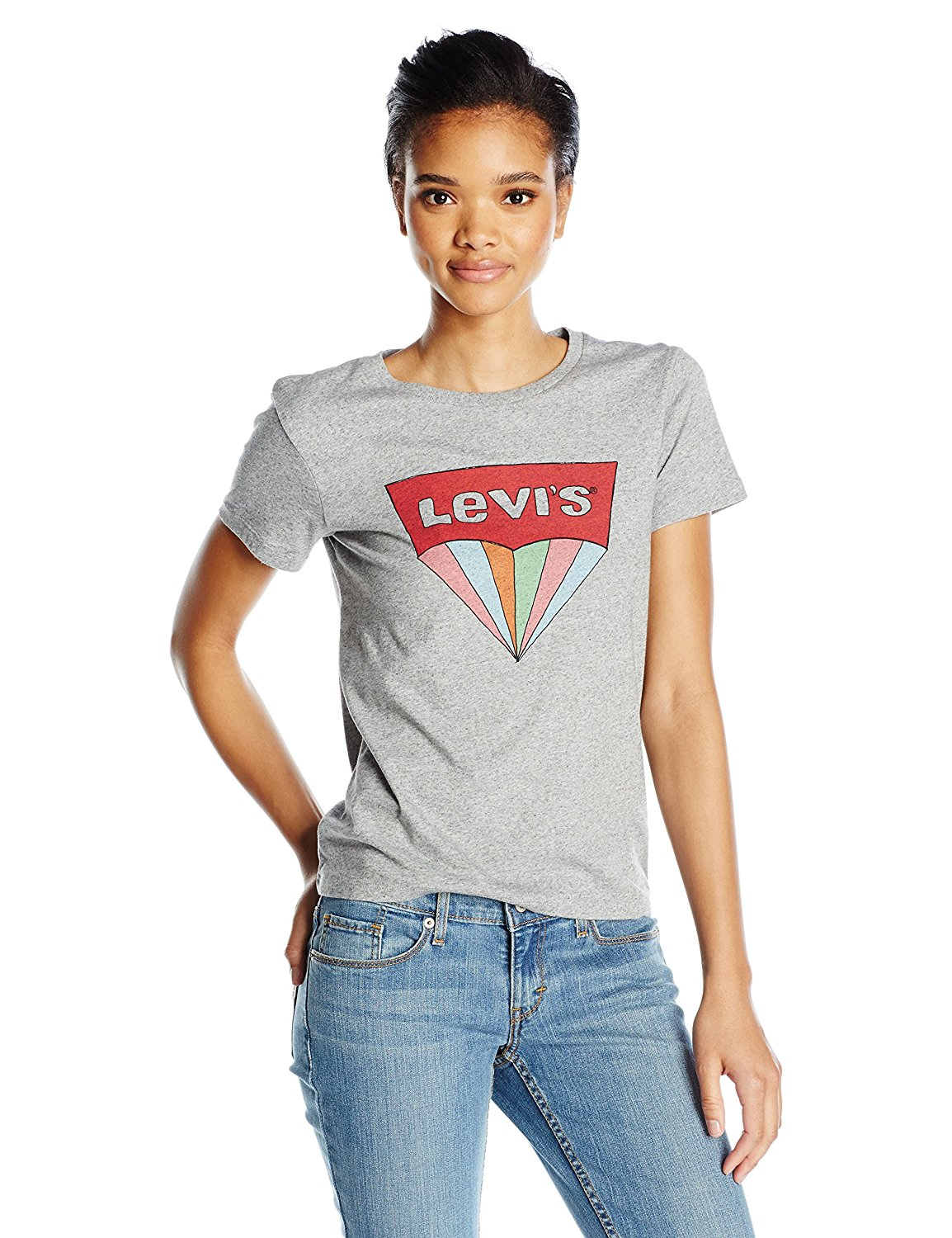 77db60b9 Levi's Women's Perfect Graphic Tee Shirt at Amazon Women's ...