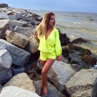 jumpsuit clothes neon