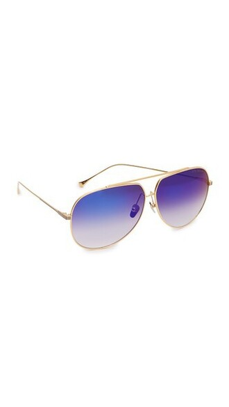 sunglasses aviator sunglasses gold blue