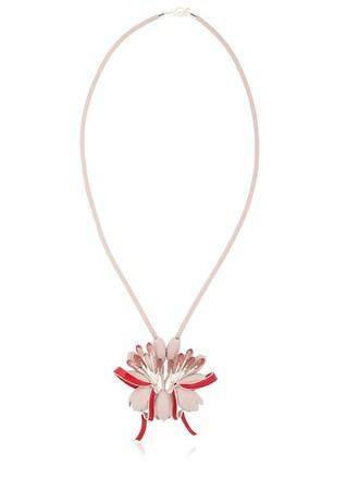 necklace silver purple jewels