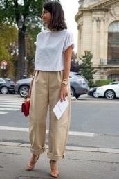 pants,beige trousers,wide leg,wide-leg pants
