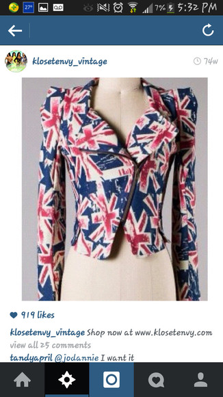 zip pretty white blue cute zipper jacket red sexy blazer london heels flag