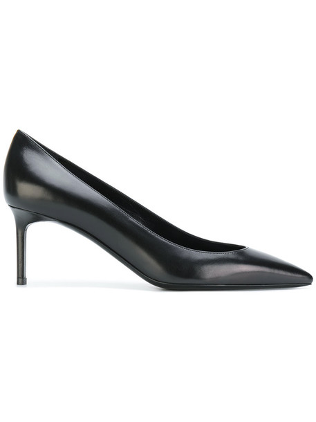 Saint Laurent women pumps leather black shoes