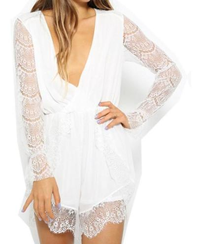Delicate lace romper · maheen · online store powered by storenvy