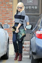 jeans,gwen stefani,fall outfits,shirt,sunglasses