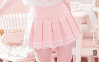 skirt pastel pink pastel pink kawaii