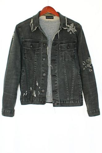 california grunge vintage justvu.com jacket bullhead denim co. denim jacket distressed denim jacket 90s style