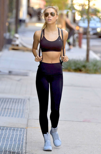 leggings sports bra black leggings workout leggings high top sneakers alexis ren sportswear