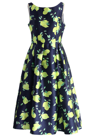 dress chicwish chic lemons prom dress in navy chic dress prom dress navy dress lemons dress floral dress party dress chicwish.com
