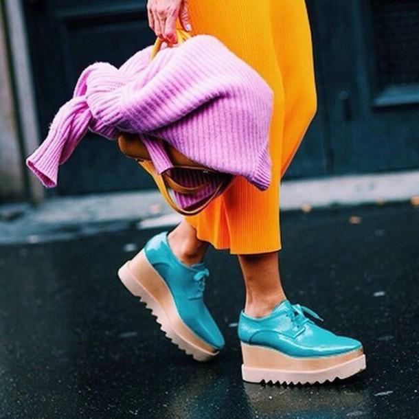 shoes platform shoes mint shoes
