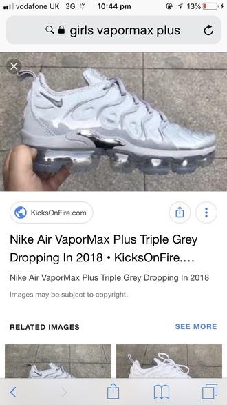 shoes grey nike vapormax