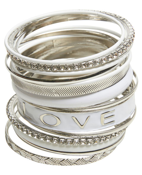 Love Epoxy Bangle Set