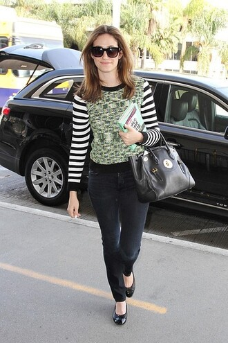 shoes top pants sweater emmy rossum bag