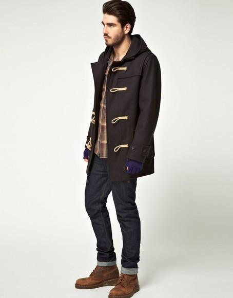 menswear coat mens coat duffle coat