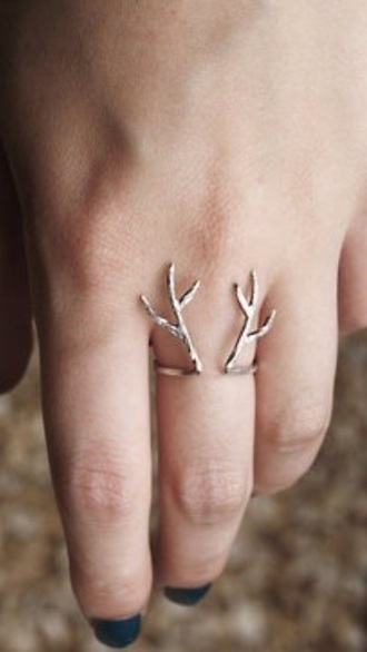 jewels ring deer antler