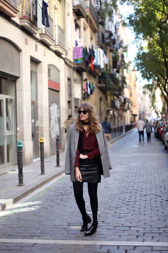my daily style blogger shirt blazer leather skirt