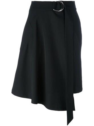skirt women spandex black silk wool