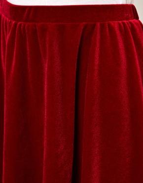 ASOS | ASOS Skater Skirt in Velvet at ASOS