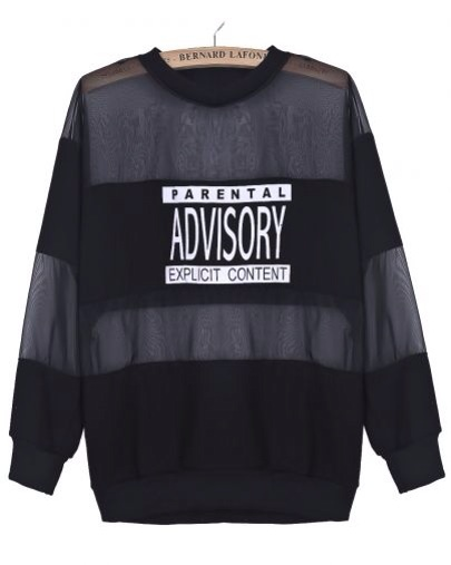 Parental Advisory Mesh Top / SAMANNA CHIC